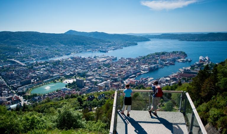Bilde 2 Bergen Fløyen. Kreditering Sverre Hjørnevik_www.fjordnorway.com